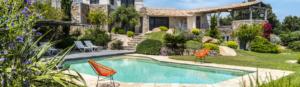 plan d'aménagement piscine et villas