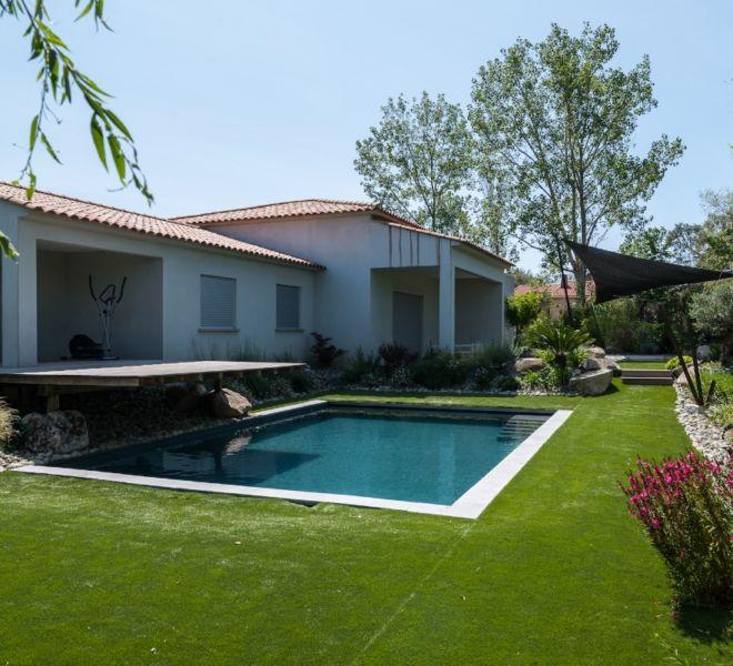 plan d'aménagement pour jardins avec piscine