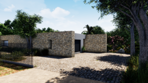 plan d'aménagement extérieur parking et garage Dessine Moi 3D