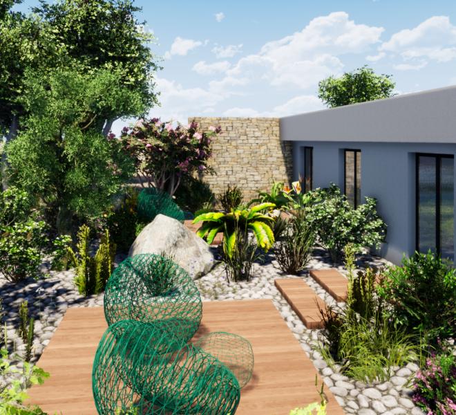plan d'aménagement paysager 3D