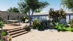 plans d'aménagements paysagers technologie 3D