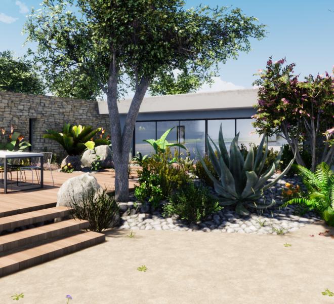 plan d'aménagement d'extérieur et paysager 3D Dessine Moi