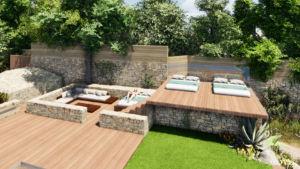 plans d'aménagements extérieurs et jardins