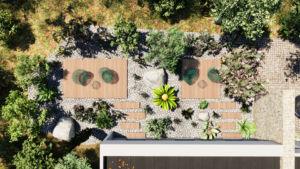 image 3D plan d'aménagement extérieur