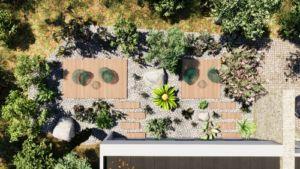 plan 3D aménagement extérieur