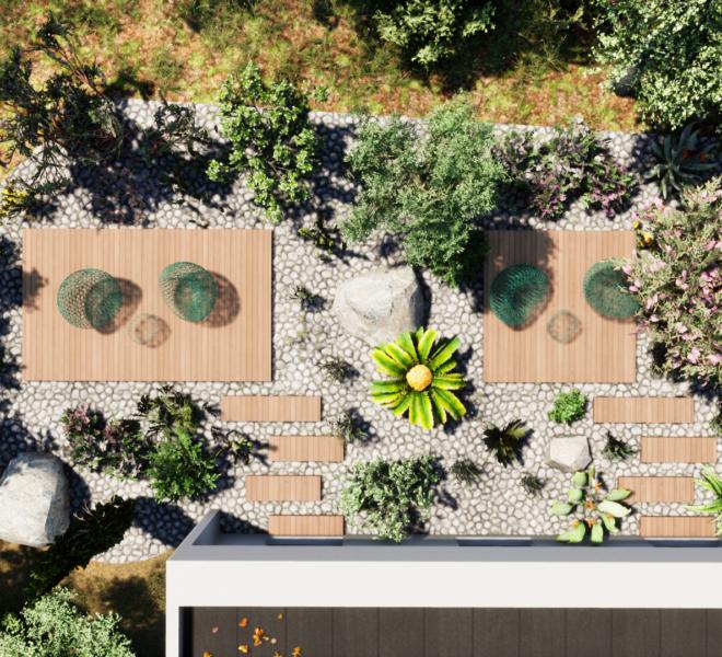 aménagement paysagers sur mesure plan 3D