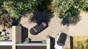 plans d'aménagements extérieurs parking et garage
