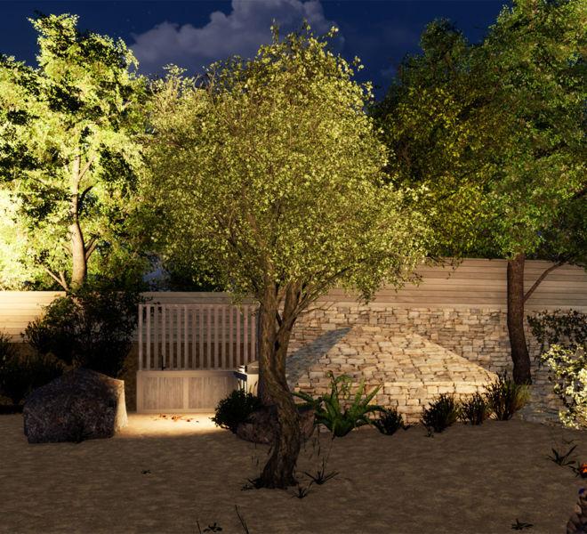 image et vidéo 3D plan d'aménagement extérieur