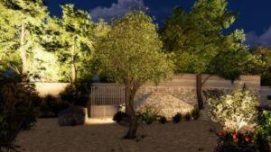 plan d'aménagements extérieurs images 3D