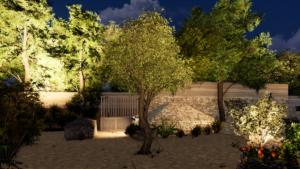 dessine moi images 3D pour plan d'aménagement extérieur