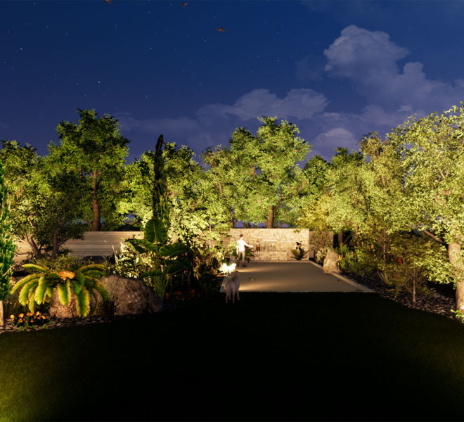 images 3D plan d'aménagements paysagiste jardins et villas