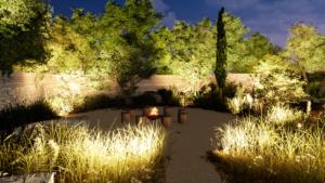 plan d'aménagement extérieur technologie 3D