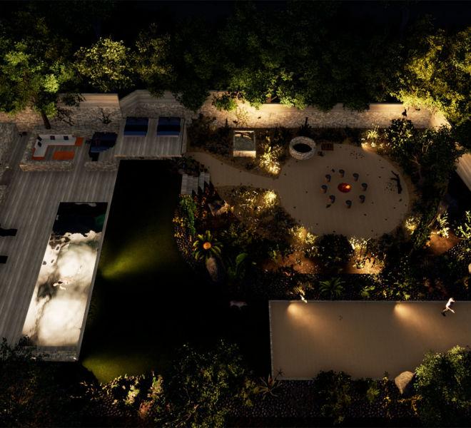 plan d'aménagement villas et jardin